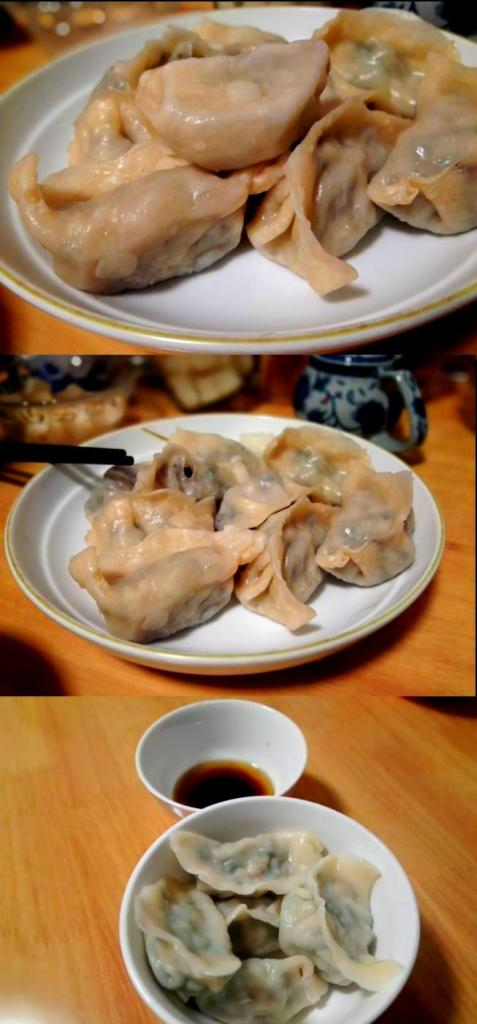 Recipe for traditional Chinese dumplings - serving and enjoy together
